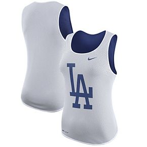Women's Nike White Los Angeles Dodgers White Out Performance Tank Top