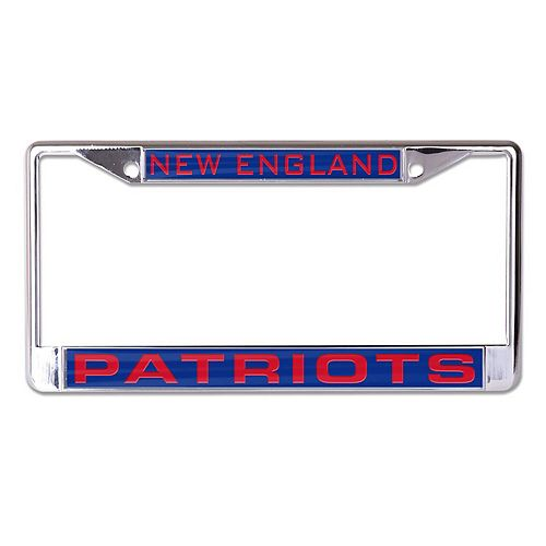 WinCraft New England Patriots Inlaid Metal License Plate Frame