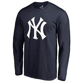 Men's Fanatics Branded Navy New York Yankees Primary Logo Long Sleeve T-Shirt