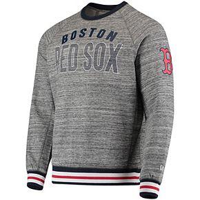 Men's New Era Steel/Navy Boston Red Sox French Terry Sweatshirt