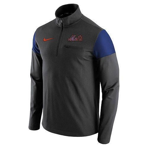 Men's Nike Gray New York Mets Elite Half-Zip Pullover Jacket