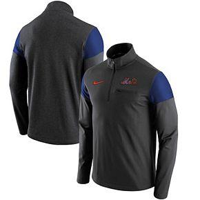 Men's Nike Gray New York Mets Elite Half-Zip Pullover Jacket