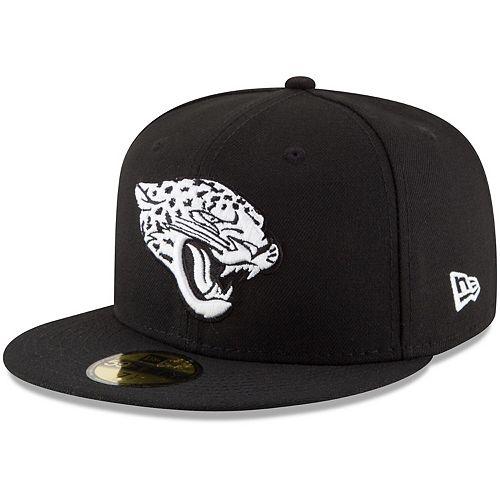 Men's New Era Black Jacksonville Jaguars B-Dub 59FIFTY Fitted Hat