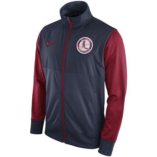 Men's Nike Navy St. Louis Cardinals Full-Zip Track Jacket