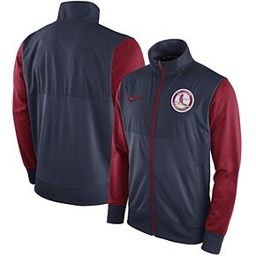 Men's Nike Navy St. Louis Cardinals Full-Zip Track Jacket