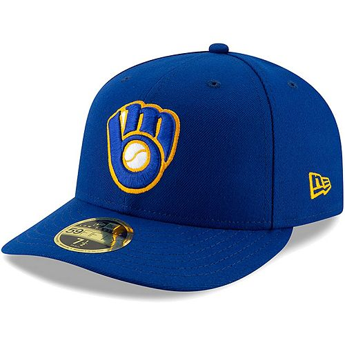 Men's New Era Royal Milwaukee Brewers Authentic Collection Alternate On-Field 59FIFTY Fitted Hat