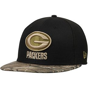 Men's New Era Black/Realtree Camo Green Bay Packers Rambo 59FIFTY Fitted Hat
