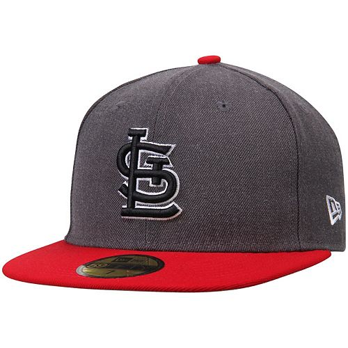 Men's New Era Charcoal/Red St. Louis Cardinals Shader Melt 2 59FIFTY Fitted Hat