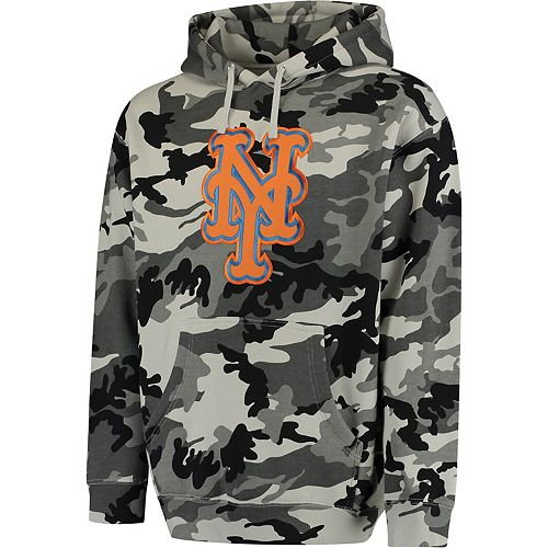 Men's Stitches Black/Camo New York Mets Pullover Hoodie