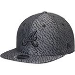 Men's New Era Black Atlanta Braves Boost Hook Original Fit 9FIFTY Snapback Adjustable Hat