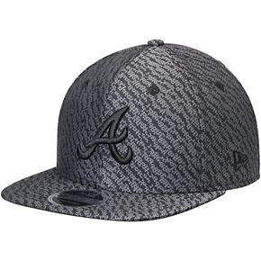 Men's New Era Black Atlanta Braves Boost Hook Original Fit 9FIFTY Snapback Adjustable Hat