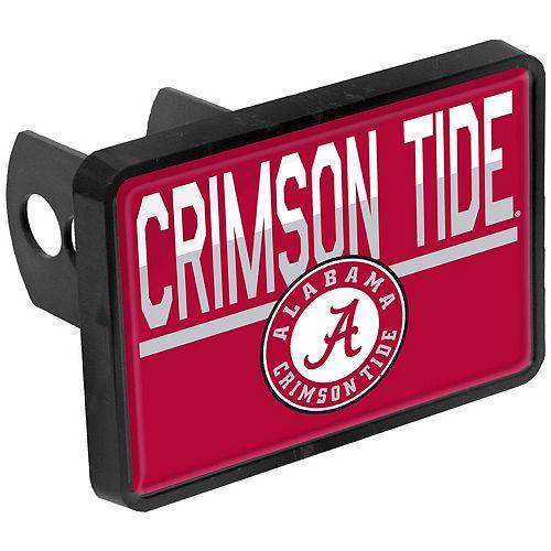 Alabama Crimson Tide Duo-Tone Rectangular Plastic Hitch Cover