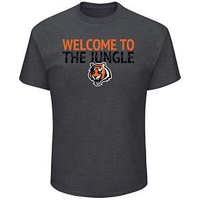 Men's Majestic Charcoal Cincinnati Bengals Big & Tall Safety Blitz T-Shirt