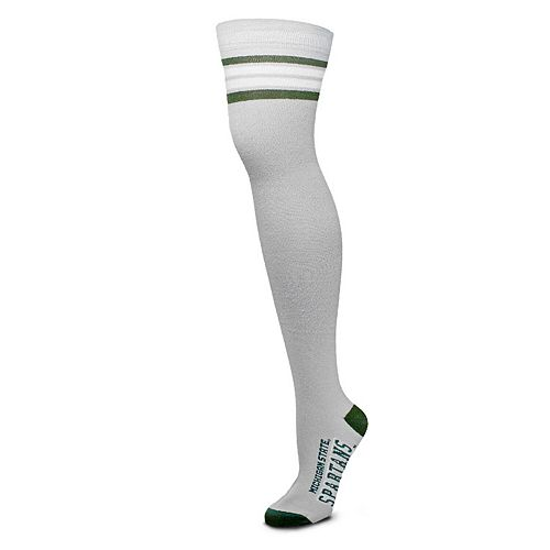 Women's For Bare Feet Michigan State Spartans Thigh-High Deuce Socks