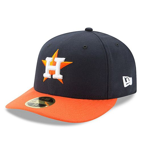 Men's New Era Navy/Orange Houston Astros Road Authentic Collection On-Field Low Profile 59FIFTY Fitted Hat