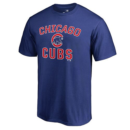 Men's Fanatics Branded Royal Chicago Cubs Big & Tall Victory Arch T-Shirt