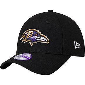 Youth New Era Black Baltimore Ravens League 9FORTY Adjustable Hat