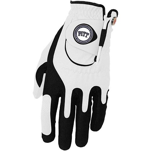 Men's White Pitt Panthers Left Hand Golf Glove & Ball Marker Set