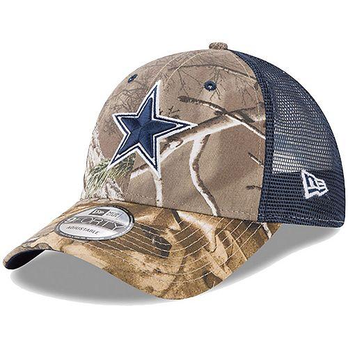 Youth New Era Realtree Camo/Navy Dallas Cowboys Trucker 9FORTY Adjustable Snapback Hat