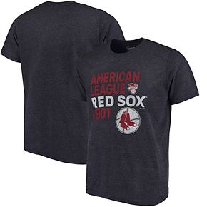 Men's Majestic Threads Navy Boston Red Sox Throwback Cooperstown Collection Tri-Blend T-Shirt