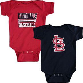 Newborn & Infant Soft as a Grape Red/Navy St. Louis Cardinals 2-Piece Body Suit