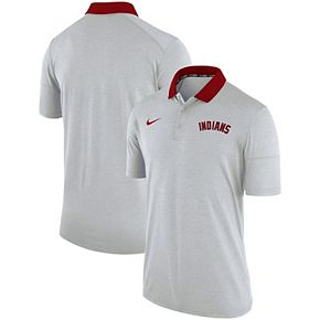 Men's Nike Heather White Cleveland Indians GM Touch Polo