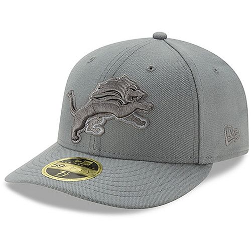 Men's New Era Detroit Lions Storm Gray League Basic Low Profile 59FIFTY Structured Hat