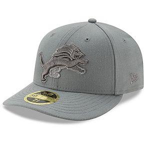 Men's New Era Detroit Lions Storm Gray League Basic Low Profile 59FIFTY Structured Hat
