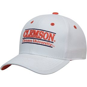 Men's The Game White Clemson Tigers Classic Bar Adjustable Snapback Hat
