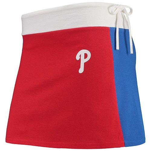 Women's Refried Tees Red Philadelphia Phillies Mini Tee-Skirt