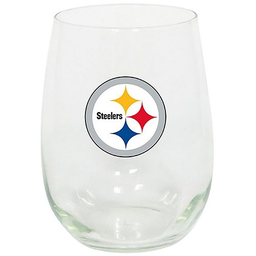 Pittsburgh Steelers 15oz. Stemless Wine Glass