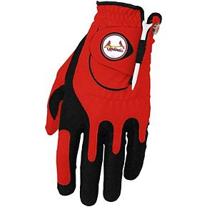 Men's Red St. Louis Cardinals Left Hand Golf Glove & Ball Marker Set