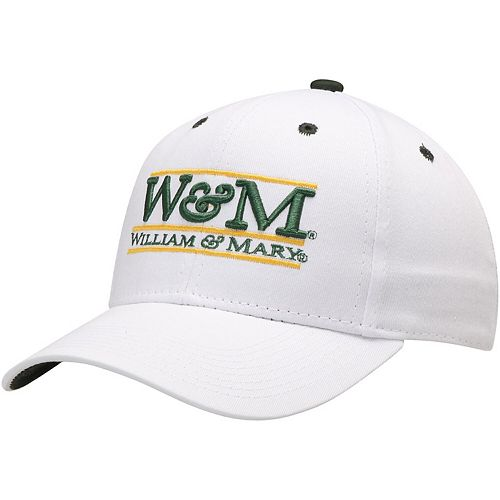 Men's The Game White William & Mary Tribe W&M Classic Bar Adjustable Snapback Hat