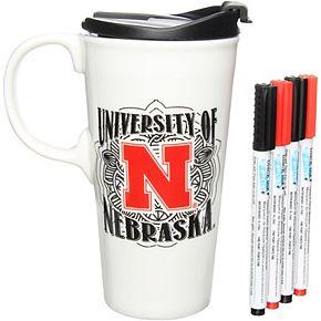 Nebraska Cornhuskers 17oz. Just Add Color Perfect Cup