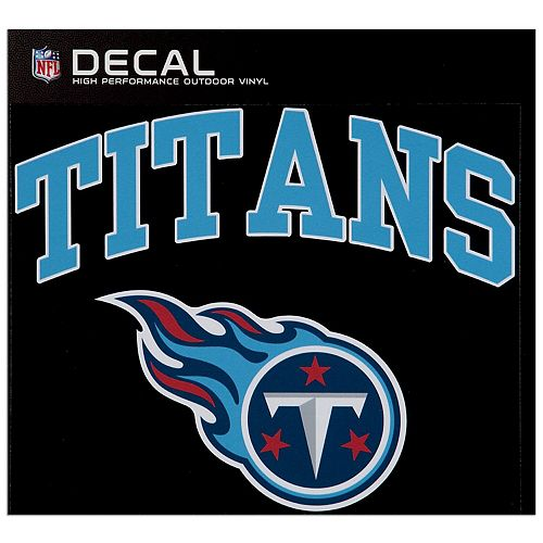 "Tennessee Titans 12"" x 12"" Arched Logo Decal"