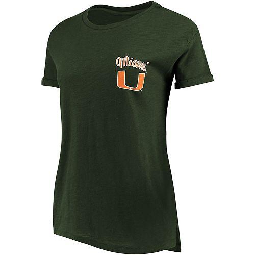 Women's Pressbox Green Miami Hurricanes Lacy Jade Boyfriend T-Shirt