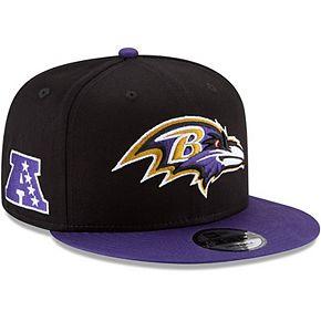 Youth New Era Black/Purple Baltimore Ravens Baycik 9FIFTY Snapback Adjustable Hat