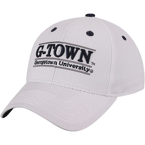 Men's The Game White Georgetown Hoyas G-Town Classic Bar Adjustable Snapback Hat