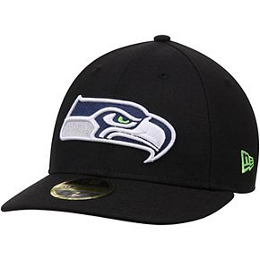 Men's New Era Black Seattle Seahawks Omaha Low Profile 59FIFTY Structured Hat