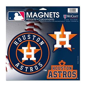 WinCraft Houston Astros 3-Pack Car Magnets