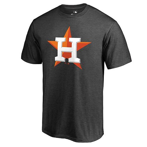 Men's Fanatics Branded Charcoal Houston Astros Primary Logo T-Shirt