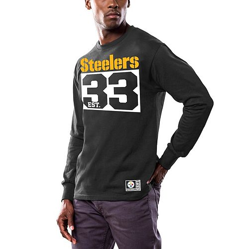 Men's Majestic Black Pittsburgh Steelers Favorable Result Long Sleeve T-Shirt
