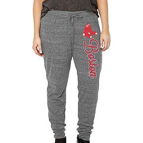 Women's Soft as a Grape Heathered Gray Boston Red Sox Plus Size Jogger Pants