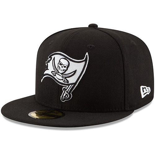 Men's New Era Black Tampa Bay Buccaneers B-Dub 59FIFTY Fitted Hat