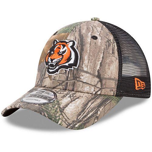 Men's New Era Realtree Camo/Black Cincinnati Bengals Trucker 9FORTY Adjustable Hat