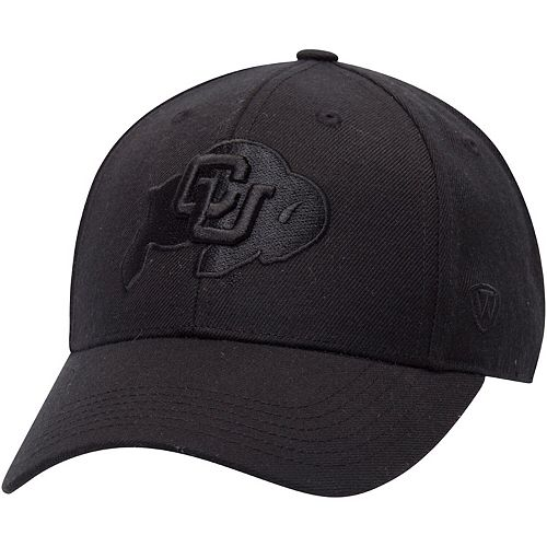 Men's Top of the World Black Colorado Buffaloes NCAA Dynasty Memory Fit Fitted Hat