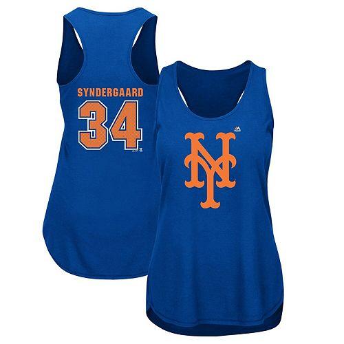 Women's Majestic Noah Syndergaard Royal New York Mets Plus Size Player Tank Top