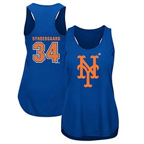 Women's Majestic Noah Syndergaard Royal New York Mets Plus Size Player Tank Top