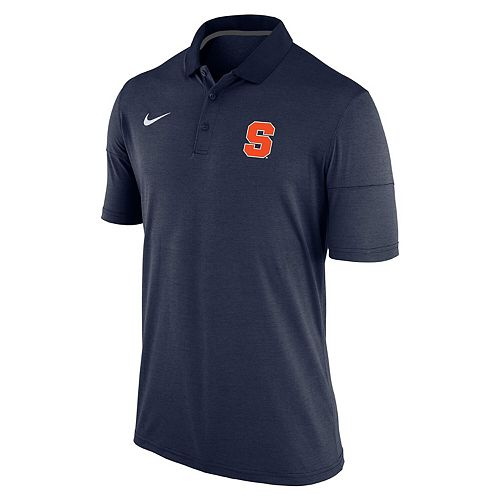 Men's Nike Heathered Navy Syracuse Orange Collegiate Dry Polo