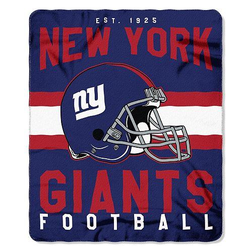 """The Northwest Company New York Giants 50"""" x 60"""" Singular Fleece Blanket"""